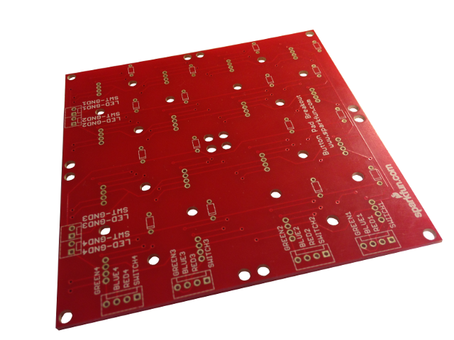 4x4 Button Pad Breakout PCB Bottom