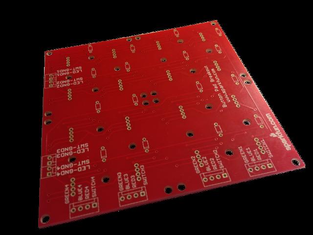 4x4 Button Pad Breakout PCB Bottom