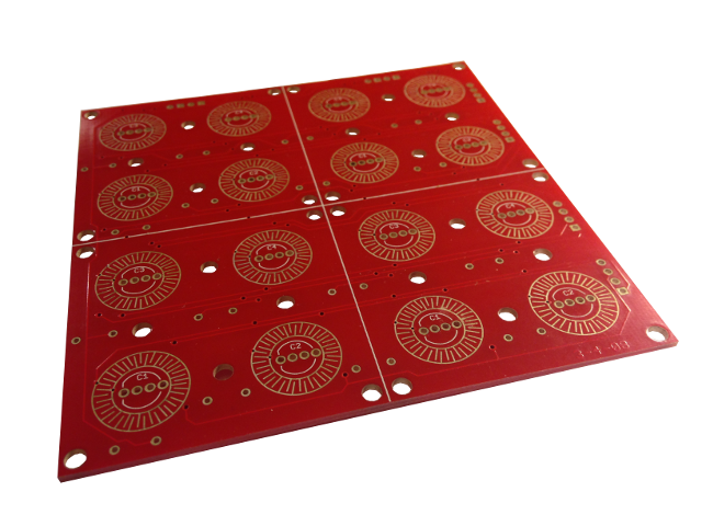 4x4 Button Pad Breakout PCB Top