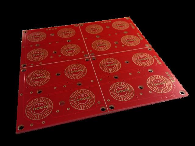 4x4 Button Pad Breakout PCB Top